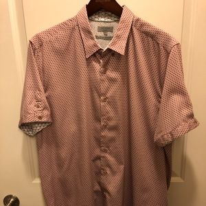 TED BAKER SHORT SLEEVE BUTTON DOWN SHIRT